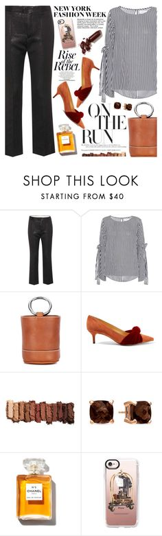 """""""What to Wear to NYFW"""" by martinabb ❤ liked on Polyvore featuring Isabel Marant, Velvet, Simon Miller, Alexandre Birman, Urban Decay, LE VIAN, Casetify and LAQA & Co."""