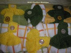 Crocheted Tea Towels by ShopWildFireflies on Etsy, $25.00