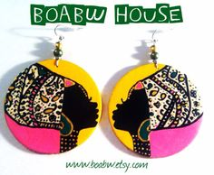 On & On Headwrap Earrings paisley print by BOABW on Etsy, $25.00