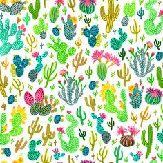 Cactus 2 fabric by jadegordon on Spoonflower - custom fabric
