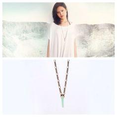 Solitude Seaglass Pendulum Necklace