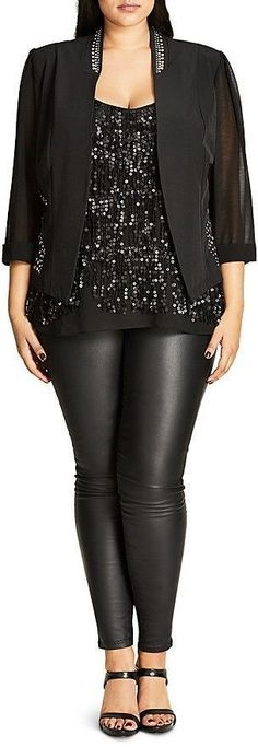 Plus Size Stud Magic Jacket