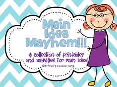 This unit of Main Idea Mayhem contains activities and printables to introduce and maintain this vital comprehension skill.  The unit includes:...