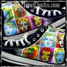 c3dbb5864de Andy Warhol Marilyn Monroe Chucks - love these
