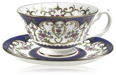Royal Collection Queen Victoria Teacup and Saucer - Traditional ...