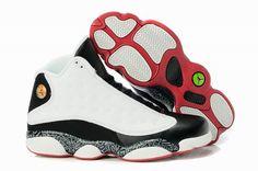 promo code 4ea90 f746d Nike Air Jordan 13 Retro White Black Red Shoes Cheap Jordans, Retro Jordans  13,