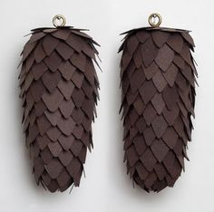 How to Make Paper Pine Cones!