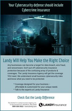 Your Cybersecurity Defense Should Include Cybercrime Insurance Ad Insurance Agency, Brand Management, The Agency, Creative Director, How To Become, Creativity, Advertising, Medical, Marketing
