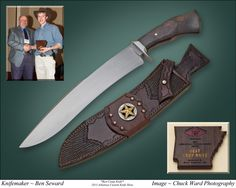 Best Camp Knife Award earned by Ben Seward at the 2013 Arkansas Custom Knife Show.