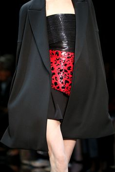 Red and Black at Armani Privé Fall 2014 Couture Collection