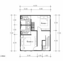House Plans Idea with 3 Bedrooms - Sam House Plans 2 Story Houses, House Elevation, Garden Living, Small House Design, Under Stairs, Home Design Plans, Small House Plans, Home Living Room, Floor Plans