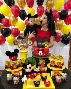 The moment you decide on Mickey Mouse party, take a note of the Mickey Mouse Clubhouse Party Supplies. Firstly, begin with a proper plan and checklist to ensure the party has everything. Start two week before and send invitations, begin grocery shopping. Mickey Mouse Birthday Decorations, Mickey Mouse Theme Party, Mickey 1st Birthdays, Fiesta Mickey Mouse, Mickey Mouse First Birthday, Mickey Mouse Cupcakes, Mickey Mouse Clubhouse Birthday Party, Mickey Cakes, Elmo Party