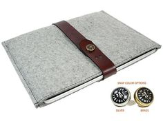 Ipad 2 Felt Sleeve $49.00 -  http://www.etsy.com/listing/64345952/designer-ipad-2-felt-sleeve-gray?ref=sr_gallery_16_search_submit=_search_query=wool+laptop_search_type=handmade_facet=handmade