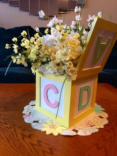 Baby Centerpiece Back View