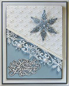 Hi bloggers! I have two Christmas cards for you today that are both in blue tones, so a bit different than the usual fare. I started t...