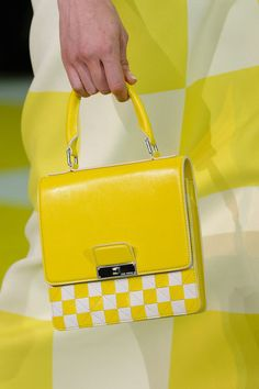 Louis Vuitton purse accessories - 2013 Yellow Checks, a twist on plaid for the new season