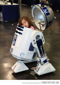 You know you are geekling when you feel comfortable enough to nap in your R2 Babysitter Unit.