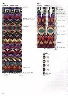 Three Versions of Riddari - Her Crochet Fair Isle Knitting Patterns, Knitting Stiches, Knitting Charts, Knit Patterns, Embroidery Patterns, Free Knitting, Sock Knitting, Knit Stitches, Vintage Knitting