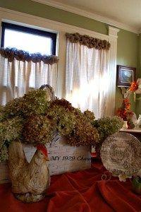 Burlap Trimmed Drop Cloth Curtains - @www.my1929 Charmer.com
