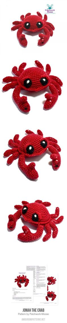 Jonah the Crab amigurumi pattern