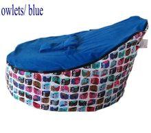 saco de feijão do bebê criança sofá tampa/macio portátil cama aconchegar/assentos do bebê sem recheio ordem da amostra(China (Mainland))
