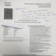We are proud of our student who has passed their CISCO CCNA exam. For More info please check http://www.asmed.com/information-technology-it/