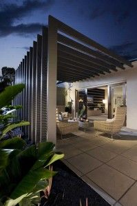 Cool outdoor living room. This looks like what our architect has designed for us. Yay!