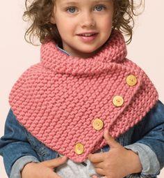 knitted snood -capelet for girl - Modèle snood Enfant - Modèles Femme - Phildar Plus