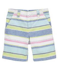 Sun washed stripes add beachy style to a classic short...wish they were a little shorter