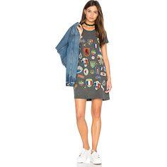 Lauren Moshi Lana T-Shirt Dress ($125) ❤ liked on Polyvore featuring dresses, tee shirt dress, lauren moshi, cotton t shirt dress, cotton tee dress and graphic dress
