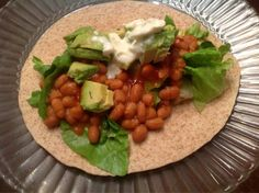 fresh n healthy eats: Baked Bean Wrap