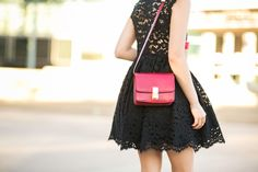 Lace Love :: Lace dress & Leopard pumps :: Outfit :: Dress :: thanks to Alexis! Shoes :: Gianvito Rossi Bag :: Celine Accessories :: Michael Kors watch, Brandy Pham bracelets, Dior earrings , Stila 'Beso' lip color Published: November 10, 2014