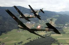 Austrian air force Pilatus PC-7 trainers. COIN version & conversion also available.