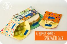 A super simple sandwich sack - well, ok, it's a reusable sandwich bag - from blogger ImFeelinCrafty.   This is a decent tutorial.