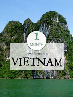 My 1 month Vietnam travel itinerary.