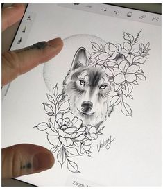 Wolf Tattoo Forearm, Small Wolf Tattoo, Wolf Tattoo Sleeve, Leg Tattoos, Body Art Tattoos, Small Tattoos, Sleeve Tattoos, Wolf And Moon Tattoo, Tattoo Wolf