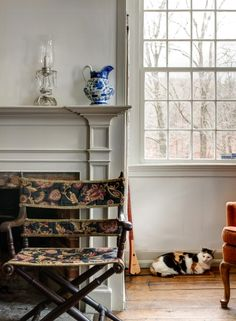 Daryl Hall is restoring his 1787 farmhouse in rural Connecticut. His cats love this house!  Photo: Bruce Buck for The New York Times.