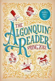 Cover Illustration and Hand Lettering for 'The Algonquin Reader'. © Jim Tierney 2012