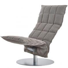 K chair, swivel, narrow, stone-black