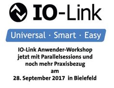 IO-Link Anwender-Workshop am 28. September 2017 in Bielefeld Anmelden: http://bit.ly/2yoJNL5  #IO-Link # Workshop #Industrie4.0 #Murrelektronik