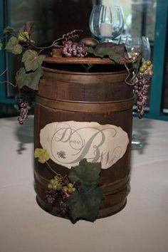 Wine Barrel Card Box Love It
