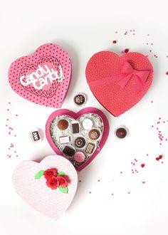 DIY Valentine Box of Faux Chocolates