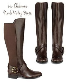 Cute Riding Boots - The stretchy panel on back allows these to fit a wider variety of sizes of calves! They look very classy and comfy too.