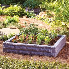 Raise the bar on gardening with this self-watering raised garden bed. This garden bed lets you grow without the weeds that plague typical gardens to yield tasty home-grown vegetables right in your own backyard. Here's how it works: water continuously flows from the attractive, faux stone walls through 4 irrigation coils and then seeps into the soil at a slow rate so plants are constantly watered.