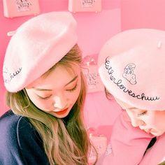韩国chuu官网正品代购Esther loves chuu可爱小兔子贝雷帽
