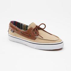 vans zapato del barco beige