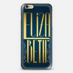 Elizabeth (Gold Lettering Art Deco) - New Standard Case  #elizabeth #betsy #betty #eli #lettering #typography #name #gold #golden #artdeco #artnoveau #deco #noveau #steampunk #ornate #letter #case #iphone #cover #iphones6 #phone #casetify #transparent