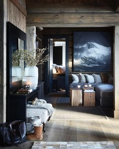 Modern Cabin Decor Pin By On Cabin Room And Cabin Fever Modern Mountain Cabin Decor Chalet Design, Chalet Style, House Design, Ski Chalet, Lodge Style, Log Home Decorating, Diy Home Decor, Interior Decorating, Interior Design