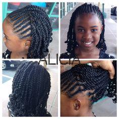 A natural kidstyle with hair added. This is a very versatile style and natural looking. #kidsbraids #kidsstyles #braids #braidbandit #braidsbyalicia #aliciabarnes #kidsstylesbyalicia #stylesbyshawn #704 #cutekidsstyles #kinkytwist #twist #twostrandtwist #marleytwist #havanatwist #marleyhair