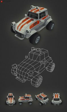 low poly buggy by bitgem